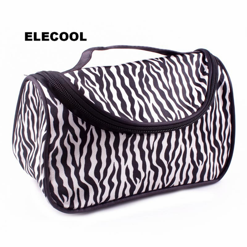 Makeup Elecool 1pc Zebra Striped Cosmetic Bag Portable Waterproof Cosmetic Case Pouch Box Toiletry Organizer Cosmetic Makeup Tools Beauty & Health
