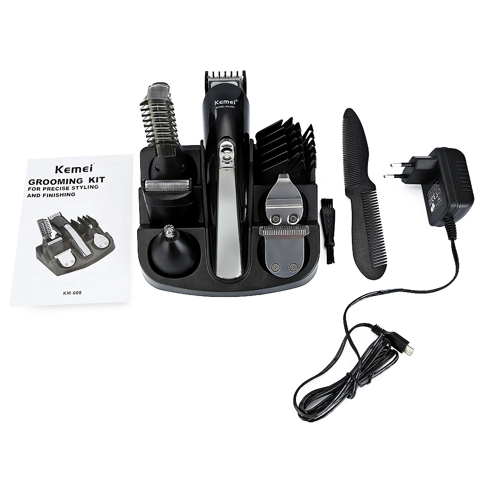 Kemei600 6 in 1 Hair Trimmer Titanium Hair Clipper Electric Shaver Beard  Trimmer Men Styling Tools Shaving Machine 100 240v-in Hair Trimmers from  Home ... 14df8b8da8
