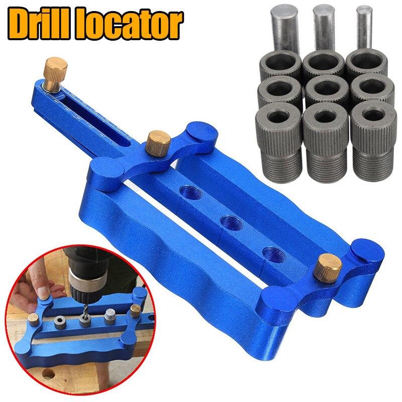 13Pcs/Set 6/8/10mm Self Centering Dowelling Jig Metric Dowel Drilling Wood Drill Kit Woodworking Hand Tools --M25