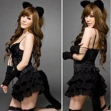 2017 Sexy Lingerie Hot Black Rose Lace Perspective SM Cosplay Cat Uniforms Teddy Lingerie Exposed Breasts Lenceria Sexy Costumes 2018 new sexy lingerie hot black lace perspective women teddy lingerie cosplay cat uniform sexy erotic lingerie sexy costumes