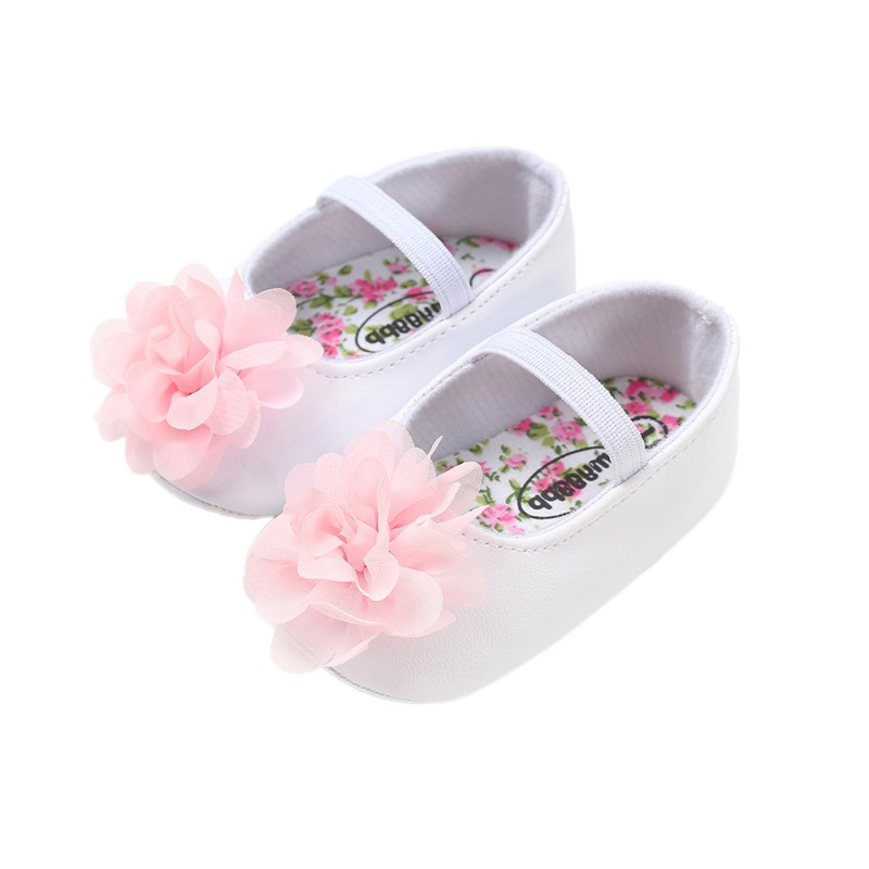 Baby Toddler Shoes Baby Shoes Newborn Flower Soft Bottom Princess Shoes 2018 New Infant First Walkers 0-18M Hot Sale