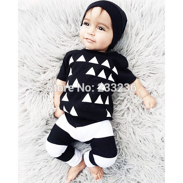 16f20c87ba7f6 US $6.99 |2017 new style baby boy clothes girl clothing set toddler roupas  suit Cute black Pattern newborn clothes infant clothing-in Clothing Sets ...