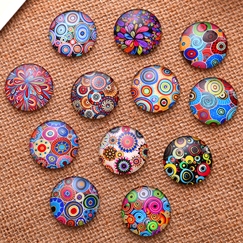 10mm Mixed Style Round Glass Cabochon Flatback Photo Dome Jewelry Finding Cameo Pendant Settings 50pcs/lot K04756