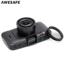 Junsun A7LA70 Full HD 1296 P 60FPS de Ambarella Cámara Del Coche DVR grabadora Cuadro Negro 6G Lente con Radares GPS Tracker Dash Cam