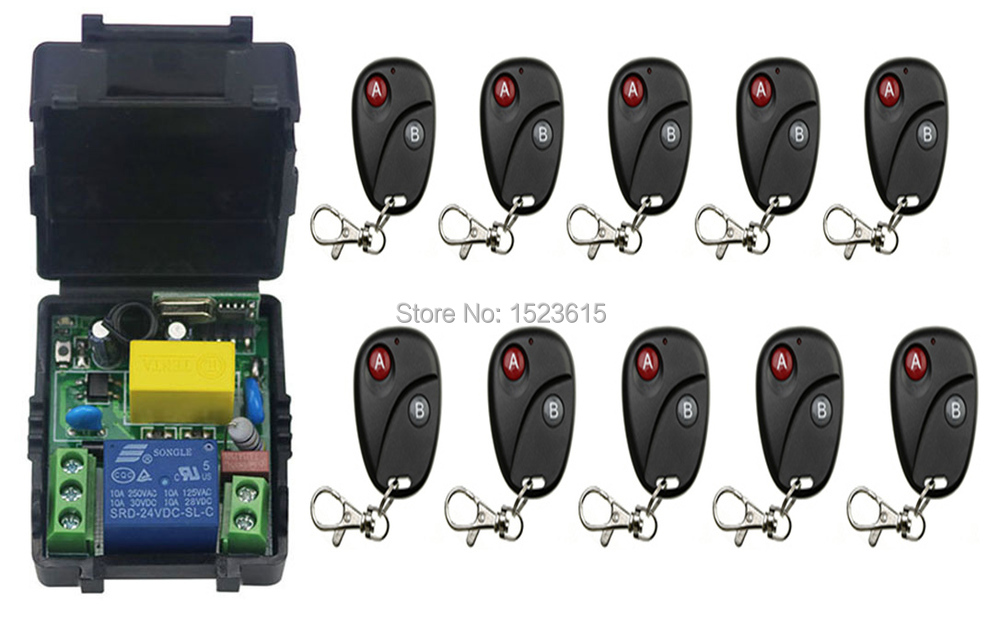 New AC220V 1CH RF Wireless Remote Control Switch System Transmitter with Two-button Receiver Smart Home Switch new design wireless ac220v remote control switch with manual button receiver for smart home 315 433mhz free shipping