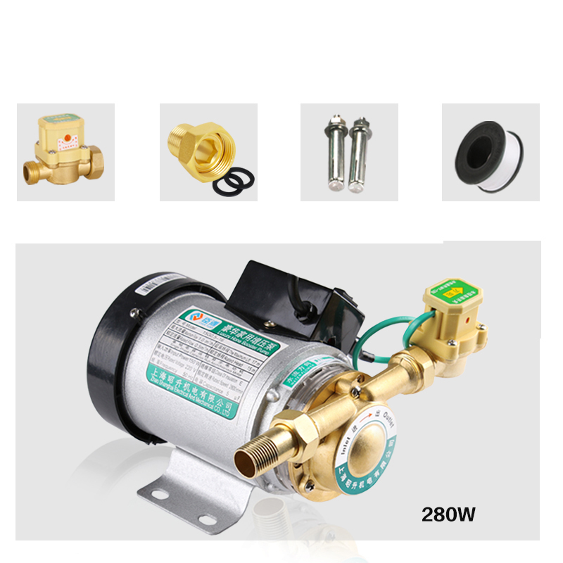 280W 20L/min Pipeline Pump SS Water Pressure Booster Pump with automatic flow switch, high pressure shower booster water pump280W 20L/min Pipeline Pump SS Water Pressure Booster Pump with automatic flow switch, high pressure shower booster water pump