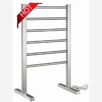 Free By DHL 1PC Heated Towel Rail Floor Type Stainless Steel Electric Towel Warmer Towel Racks