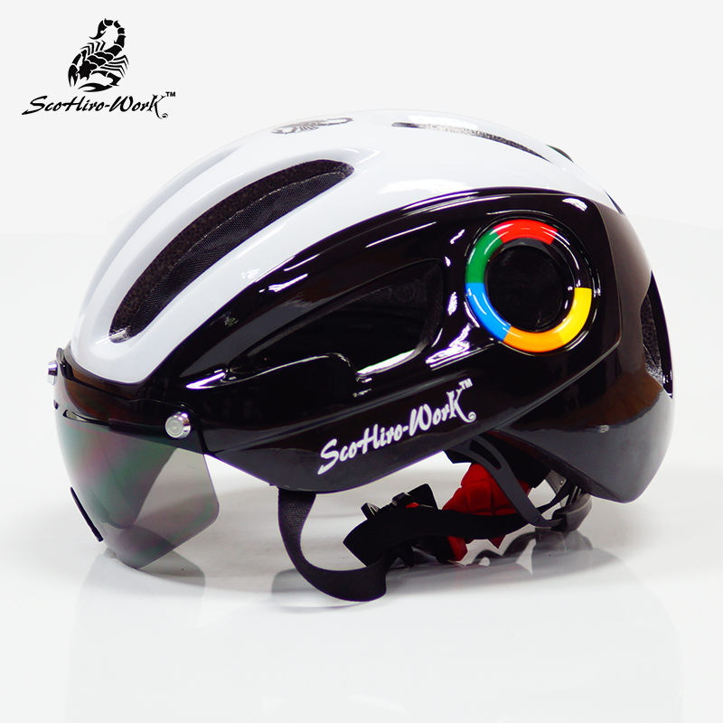 цена на SCOHIRO WORK bicycle helmet for men road mtb mountain bike helmet lenses goggles cycling casco helmet equipment Casco Ciclismo