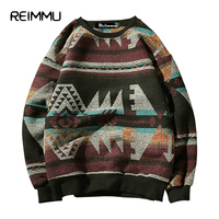 Reimmu 2017 Winter Style Mens O Neck Sweaters Oversized 5XL Pullovers Male Famous Brand Christmas Sweater