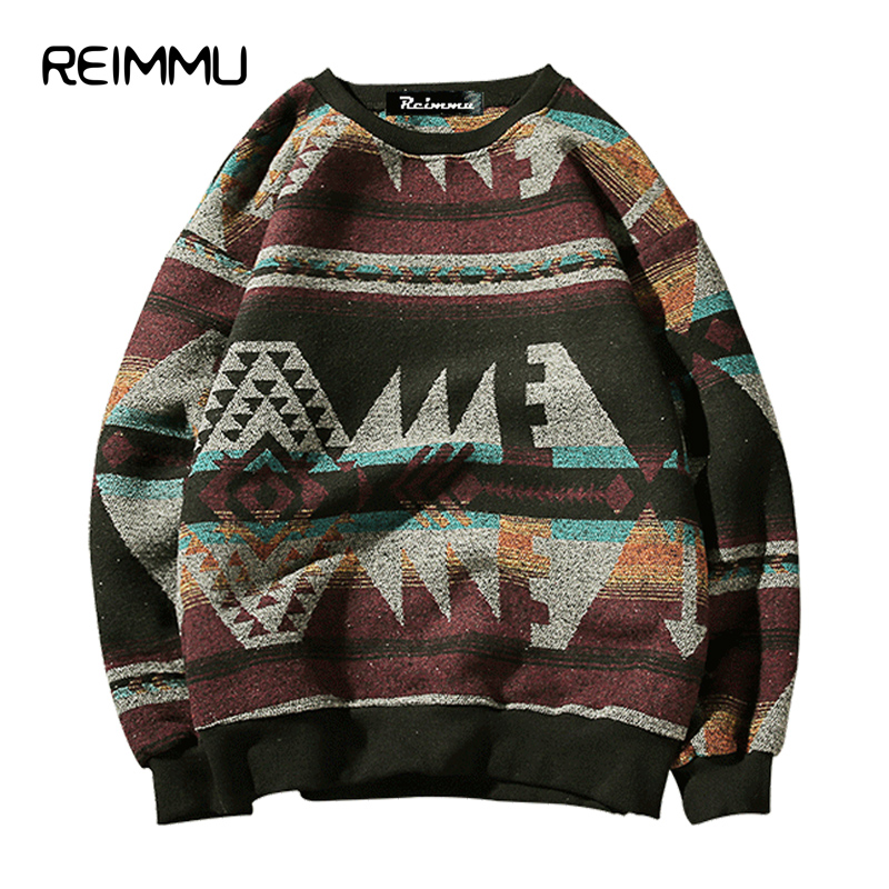 Reimmu 2017 Winter Style Mens O Neck Sweaters Oversized 5XL Pullovers Male Famous Brand Christmas Sweater Hot Sale Pull Homme