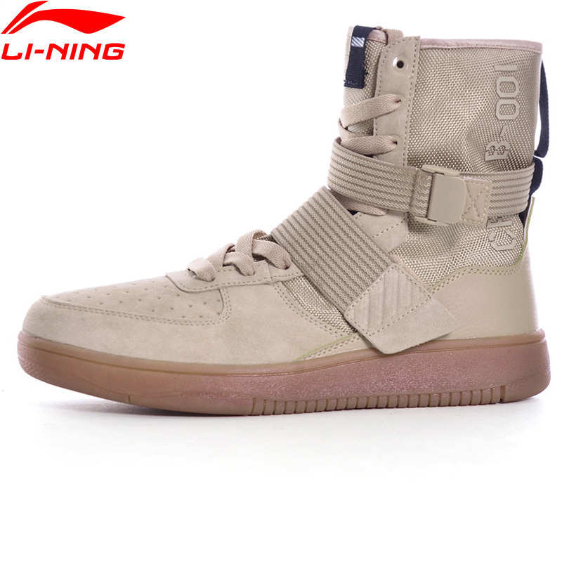 Li-Ning Walking Shoes Sneakers Stability LiNing Sock-Like Men Sneakers Fitness Support Sports Shoes GLKM117 YXB124 asymptotic stability