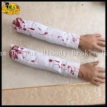 Funny Scary Broken Finger Hand Blood Horror Halloween Decoration Severed Bloody Simulate Hand Novelty Dead Broken Hand Gadgets
