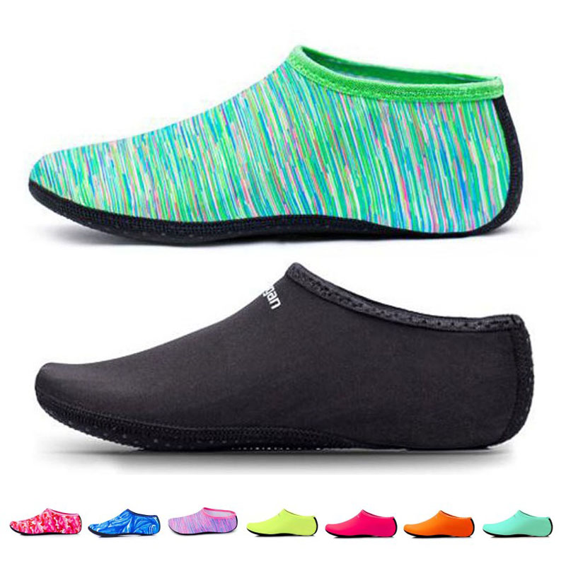 Breathable Beach Upstream Water Sport Anti-skid Socks Underwater Swimming Fins Snorkeling Diving Surfing Non-slip Shoes Quickdry yoga socks non slip skid with full toe grips