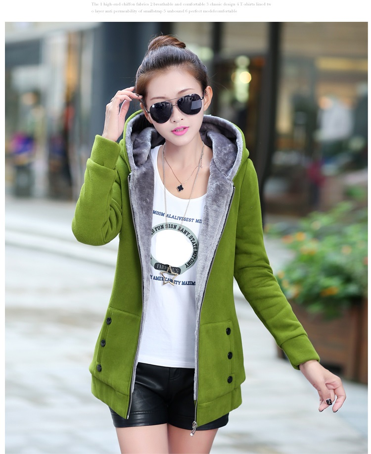 HTB1FGggaffsK1RjSszgq6yXzpXaj Women Fashion Autumn Winter Thicken Sports Cotton Coat ladies Solid Hooded Warm Jacket Outerwear female padded parka overcoat