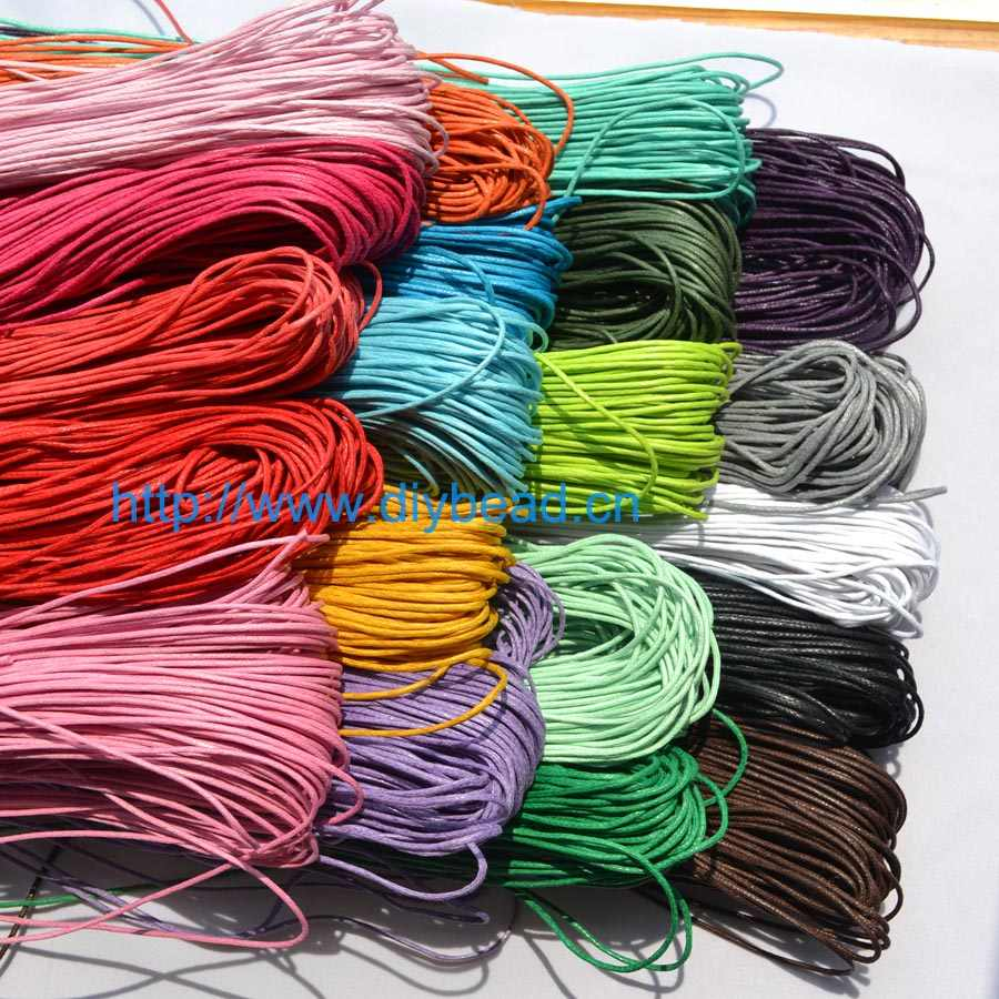 DIY Department 10 meter wholesale 16 colors Waxed Cotton Beading Cord Rope 1.5mm For Bracelet Necklace