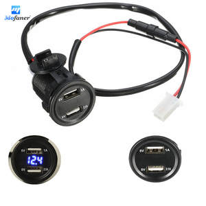 Mofaner 12 V 4.2A Dual USB Motorcycle Charger Socket For Car Motorbike