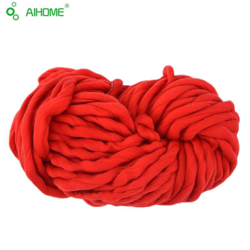 20 colores suave lana Roving voluminoso grueso hilo grande hilado a ...