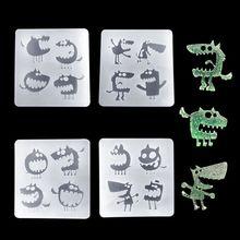 Новое поступление силиконовой формы DIY ювелирных изделий инструменты Хэллоуин Монстр Забавный эпоксидной смолы кулон зеркало УФ аксессуары