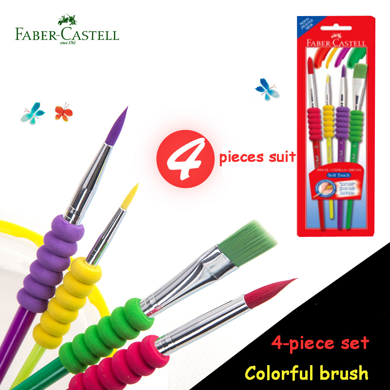 Faber Castell Water Paint Brush With Soft Touch Set Nylon