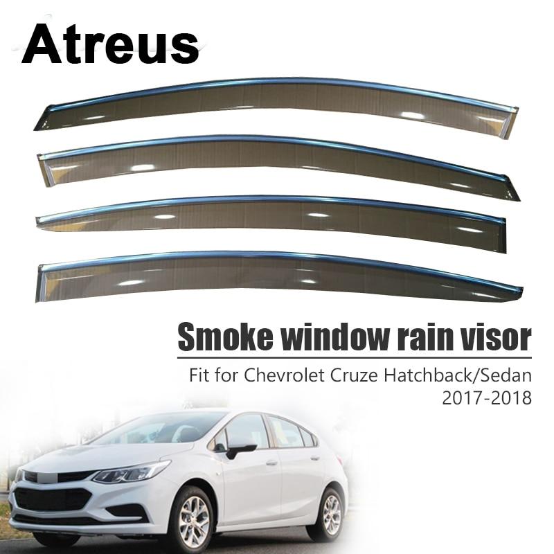 Atreus 1 компл.. Для Chevrolet Cruze седан хэтчбек 2017 2018 высокое качество автомобиля дым козырек на ветровом стекле ABS Vent Защита от солнца дефлекторы гв...