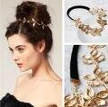 20% de DESCONTO de Moda de Nova Mulheres Jóias Cabeça Headwear Ouro Olive Leaves Headband Cabelo Banda Acessório Do Cabelo Hairband