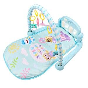 Image 4 - Nouveau 3 en 1 bébé tapis de jeu bébé gymnastique jouets doux éclairage hochets jouets musicaux pour bébés jouets éducatifs jouer Piano gymnase bébé cadeaux