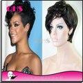 Glueless полный ни парики 100% бразильских волос человеческих фронта парик шик оборвалась парики прическа парик для чернокожих женщин