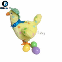 2 Style High Quality Funny Chicken Laying Egg Crazy Toy With Music Battery Powered Shaker Stuffed