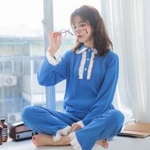2019 Spring New Nursing Maternity Pajamas Korean Knitted Cotton Breastfeeding Pregnancy Clothes Postpartum Feeding A319