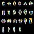 22 Pcs Unhas Decorações 3D Brilhante Diamond Star Projeto Da Arte Do Prego Liga Jóias Prego Fatias DIY Decoração JW33