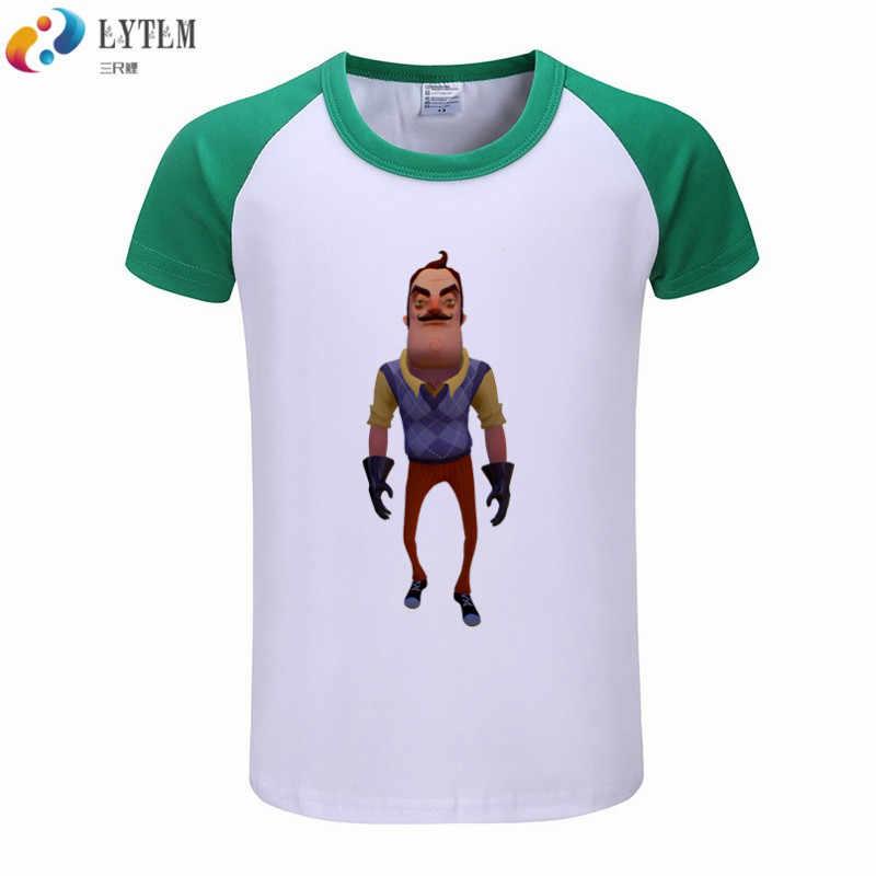 0e94aef3e0ddf ... LYTLM Hello Neighbor Sport Tee Shirt Fille 8 ans Children Boys T Shirt  Summer Casual Cotton ...