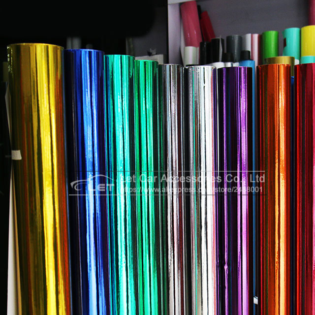 High Stretchable Flexible Waterproof UV Protected Red Chrome Mirror Vinyl Wrap Sheet Roll Film Car Sticker Decal Sheet