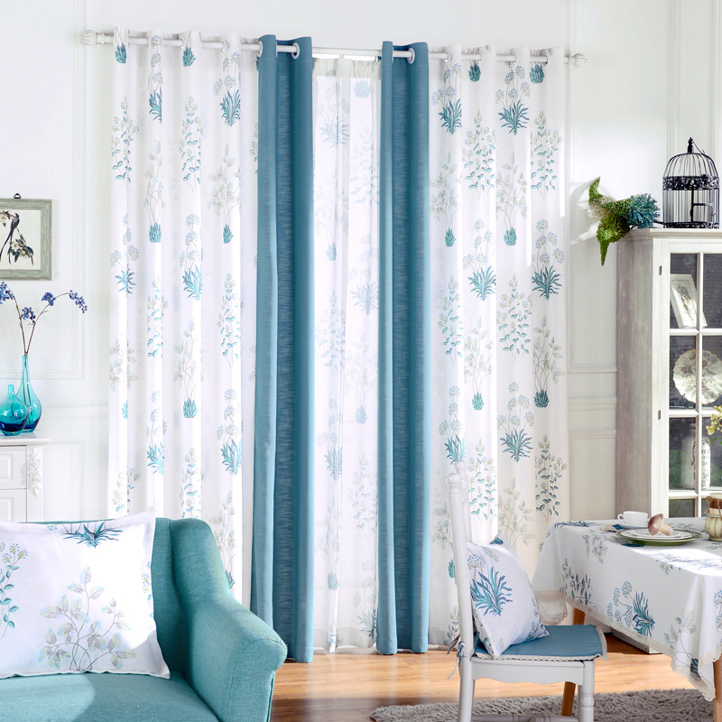 Bedroom Window Treatment Blackout Panel Curtains Cotton