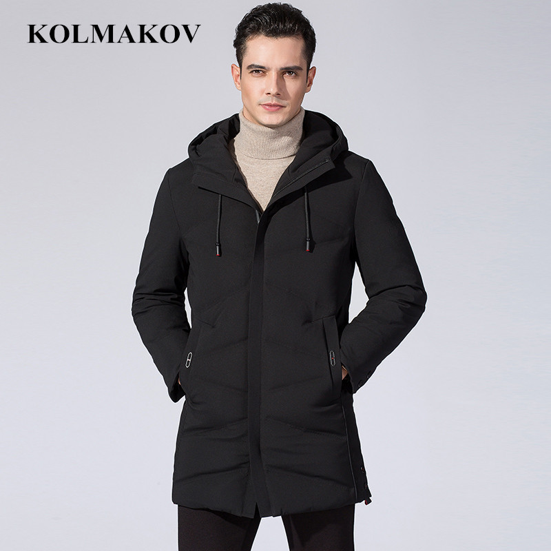 Brand New Winter   Down     Coats   men Hooded warm Parkas slim fit thick duck   down   Jackets homme top quality Overcoats Plus Size M-3XL