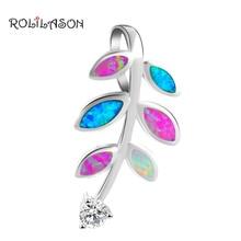 Rolilason классический Модные украшения кулон Mutil Цвет огненный опал Серебро штампованные Высокое качество Самые низкие цены OPS678 для Для женщин