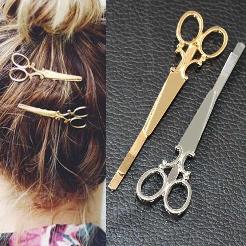 T405 nouveau 2018 Bijoux Tiara mariée coiffure ciseaux épingles à cheveux bandeau bandeaux pour femmes mariage cheveux Bijoux accessoires