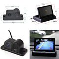 "3 in1 Sound Alarm Reversing Backup Auto Parking Sensor With Rear View Camera + 4.3"" Car Foldable Monitor"