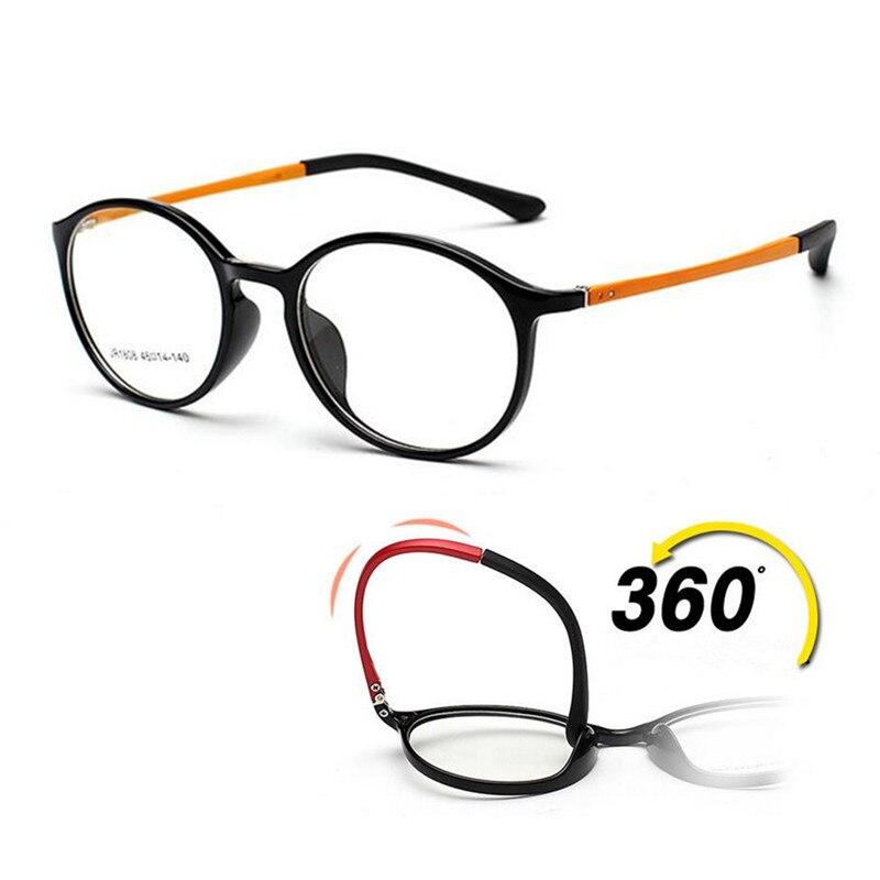 e7bc7839343a Vintage Oval TR90 Flexible Eyeglass Frames Full Rim myopia Rx able Men  Women Unisex lightweight Glasses