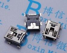 100pcs Mini USB connector SMD USB Data interface 5PIN 5 needle mini usb socket Free shipping
