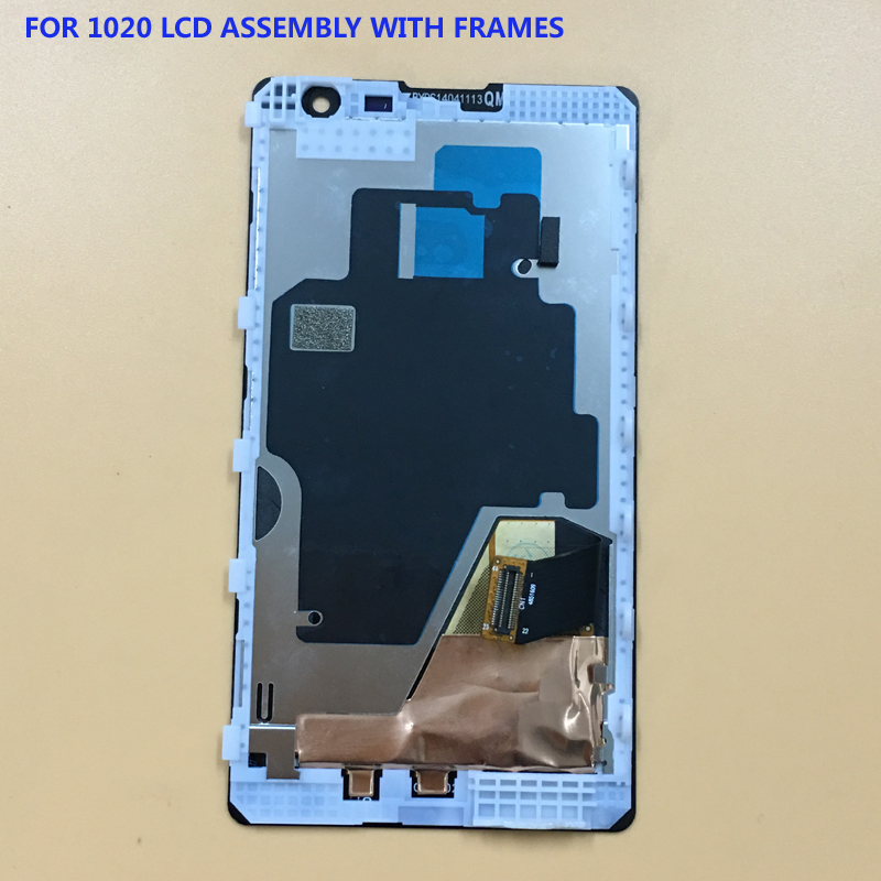 100% Test For Nokia Lumia 1020 N1020 Touch Screen Digitizer Sensor Glass + LCD Display Panel Module Assembly With Black Frame100% Test For Nokia Lumia 1020 N1020 Touch Screen Digitizer Sensor Glass + LCD Display Panel Module Assembly With Black Frame