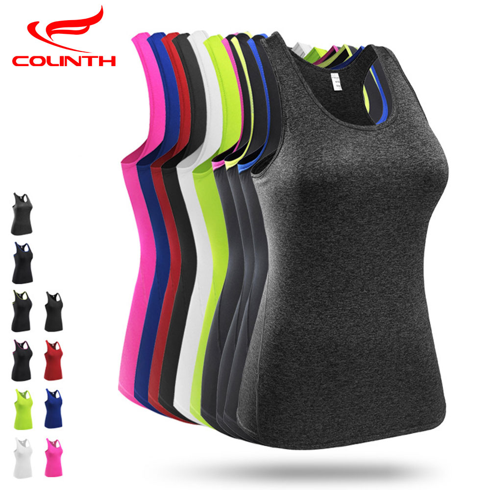 New Women's Sports Vest Professional Quick-drying Fitness Tank Top Active Workout Yoga Clothes T-shirt Running Gym Jogging Vest