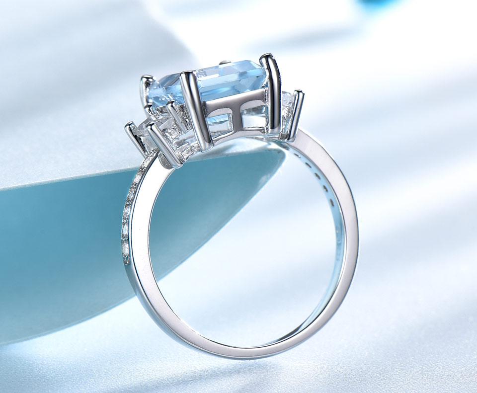 HTB1FGivXO6guuRjy1Xdq6yAwpXac UMCHO Blue Topaz Gemstone Rings for Women Genuine 925 Sterling Silver Aquamarine Ring Romantic Wedding Engagement Fine Jewelry