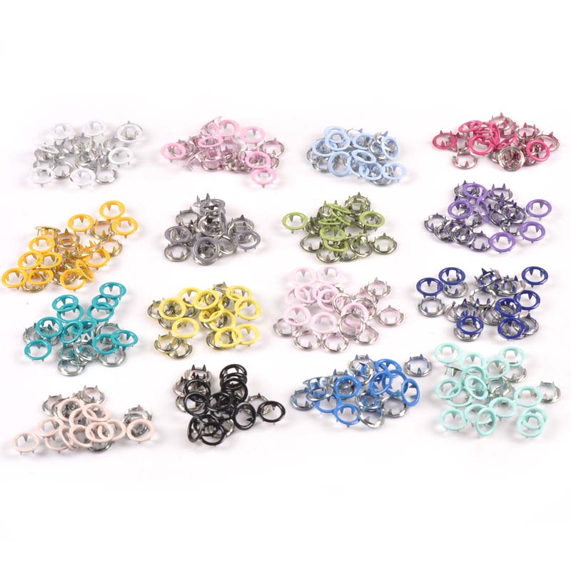 20sets(4pcs 1set) Multicolor Prong Snap Buttons Metal Fasteners Press Stud For Romper Buckle Snap Baby Clothes DIY 9.5mm C2230