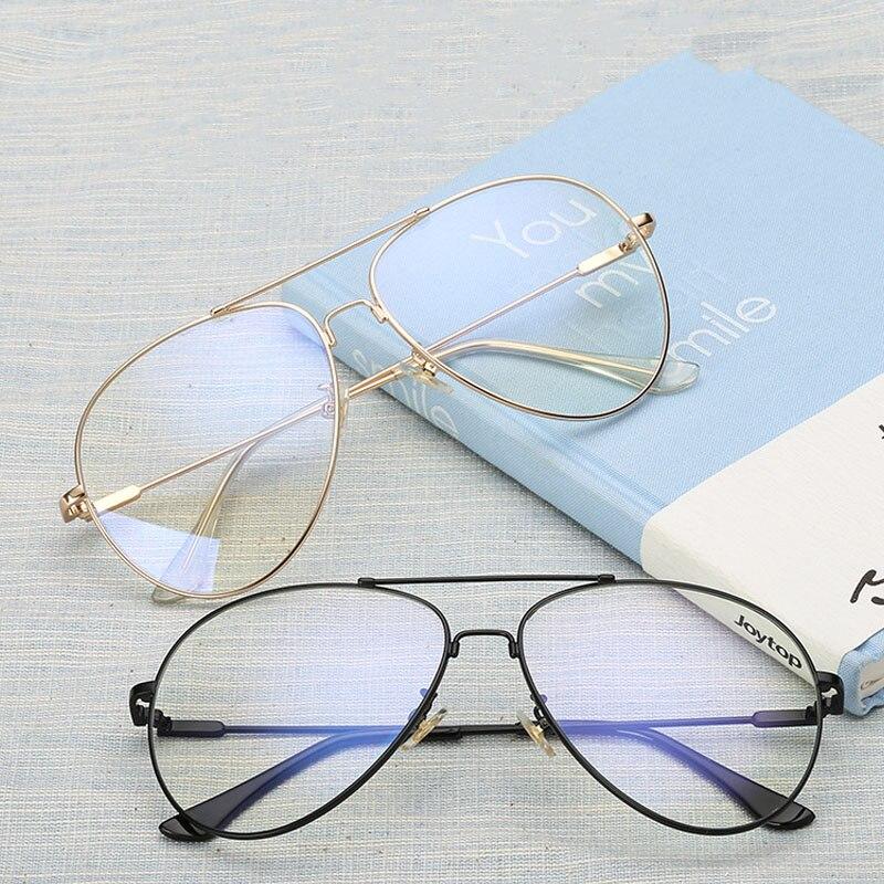 High quality Optics metal full flexible bridge the temple Classic brand pilot optical points frame Prescription glasses frame