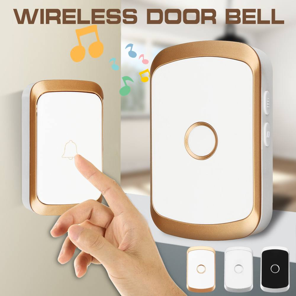 350M Remote Wireless Doorbell CALL Waterproof Smart Door Bell 110V 220V EU/UK/US Plug Music Doorbell