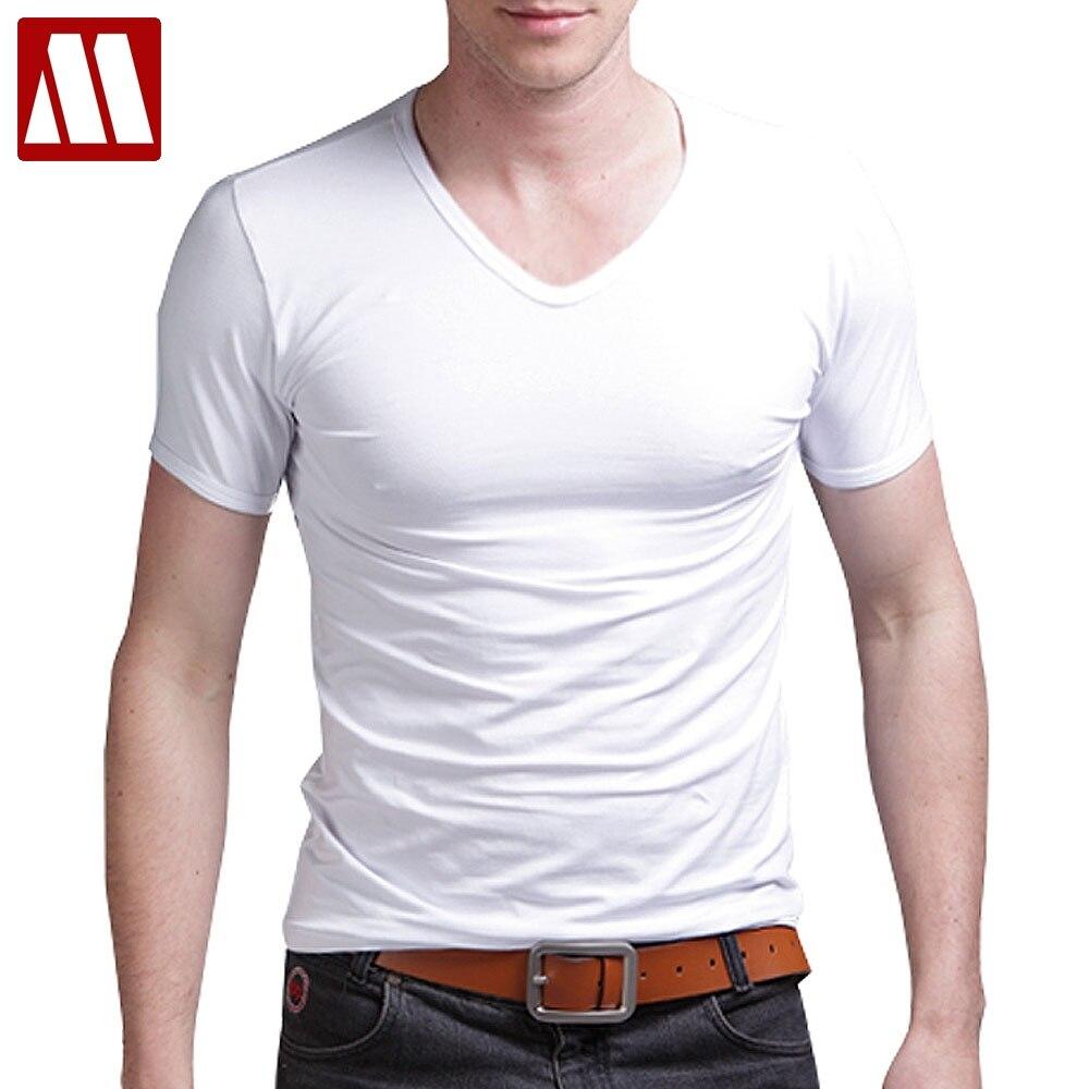 8cf94d67fcf elastic cotton mens t shirts fashion 2019 casual v neck short sleeve t  shirt men 5XL fitness men tshirt t-shirt tee shirt homme