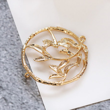 6PCS 33MM 24K Gold Color Brass Dragonfly Circle Earring Connector Charms Diy Jewelry Findings Earrings Accessories