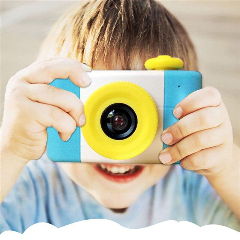 Lindo rosa azul 5MP 1,5 p HD 1080 pulgadas pantalla Mini niños cámara de dibujos animados Digital pequeña cámara SLR juguete regalo