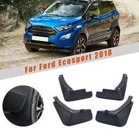 4 pçs frente do carro traseiro mud flaps fender respingo guardas paralama segurança reflexivo aviso mudflaps para ford ecosport 2018