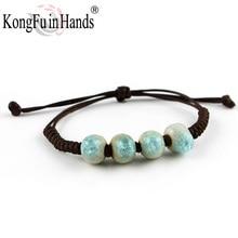 New Water Drop bohemia crystal like bracelet Famous Handmaking Ceramic from Jingdezhen China free shipping Christmas present